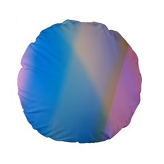 Twist Blue Pink Mauve Background Standard 15  Premium Flano Round Cushions