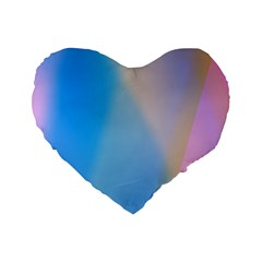 Twist Blue Pink Mauve Background Standard 16  Premium Flano Heart Shape Cushions