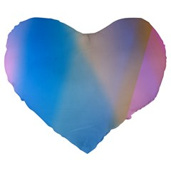 Twist Blue Pink Mauve Background Large 19  Premium Flano Heart Shape Cushions