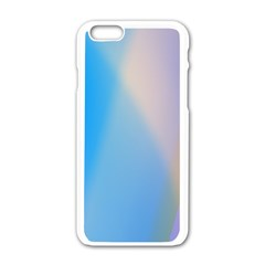 Twist Blue Pink Mauve Background Apple iPhone 6/6S White Enamel Case