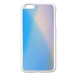 Twist Blue Pink Mauve Background Apple iPhone 6 Plus/6S Plus Enamel White Case