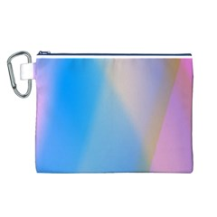 Twist Blue Pink Mauve Background Canvas Cosmetic Bag (L)