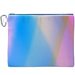 Twist Blue Pink Mauve Background Canvas Cosmetic Bag (XXXL)