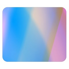 Twist Blue Pink Mauve Background Double Sided Flano Blanket (Small)
