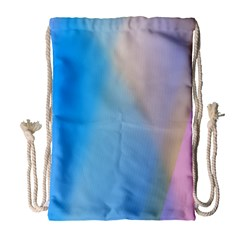 Twist Blue Pink Mauve Background Drawstring Bag (Large)
