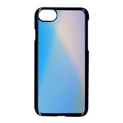 Twist Blue Pink Mauve Background Apple iPhone 7 Seamless Case (Black)
