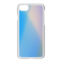 Twist Blue Pink Mauve Background Apple iPhone 7 Seamless Case (White)