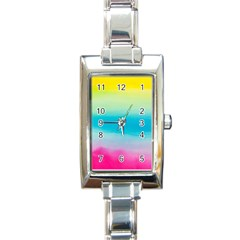 Watercolour Gradient Rectangle Italian Charm Watch