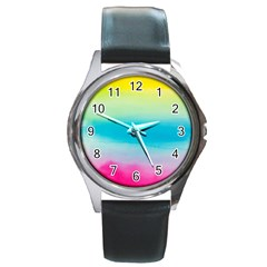 Watercolour Gradient Round Metal Watch
