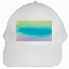 Watercolour Gradient White Cap