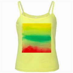 Watercolour Gradient Yellow Spaghetti Tank