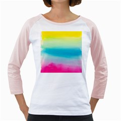 Watercolour Gradient Girly Raglans