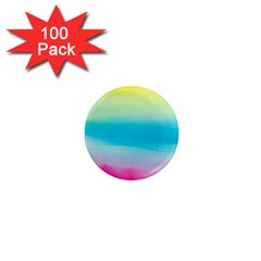 Watercolour Gradient 1  Mini Magnets (100 pack)