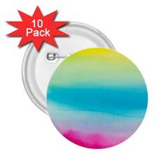 Watercolour Gradient 2.25  Buttons (10 pack)
