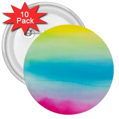 Watercolour Gradient 3  Buttons (10 pack)