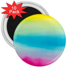 Watercolour Gradient 3  Magnets (10 pack)