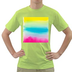 Watercolour Gradient Green T-Shirt