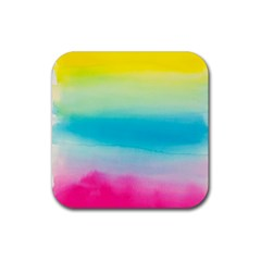 Watercolour Gradient Rubber Square Coaster (4 pack)