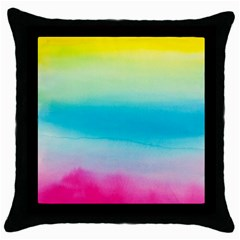 Watercolour Gradient Throw Pillow Case (Black)
