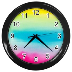 Watercolour Gradient Wall Clocks (Black)