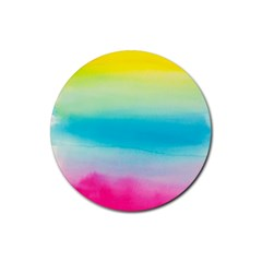 Watercolour Gradient Rubber Coaster (Round)