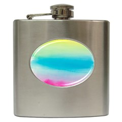 Watercolour Gradient Hip Flask (6 oz)