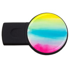 Watercolour Gradient USB Flash Drive Round (2 GB)