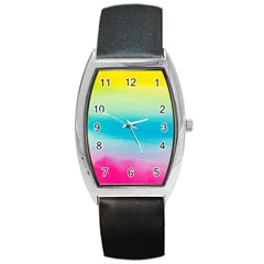 Watercolour Gradient Barrel Style Metal Watch