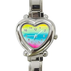 Watercolour Gradient Heart Italian Charm Watch
