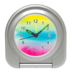 Watercolour Gradient Travel Alarm Clocks