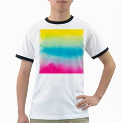 Watercolour Gradient Ringer T-Shirts
