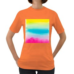 Watercolour Gradient Women s Dark T-Shirt
