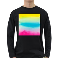 Watercolour Gradient Long Sleeve Dark T-Shirts