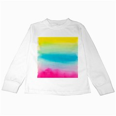 Watercolour Gradient Kids Long Sleeve T-Shirts