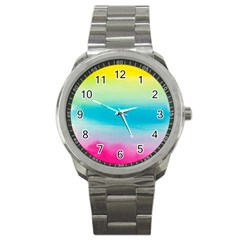 Watercolour Gradient Sport Metal Watch