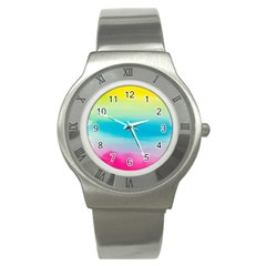 Watercolour Gradient Stainless Steel Watch