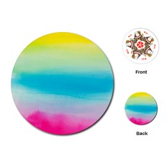 Watercolour Gradient Playing Cards (Round)