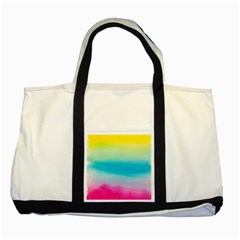 Watercolour Gradient Two Tone Tote Bag