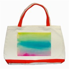 Watercolour Gradient Classic Tote Bag (Red)
