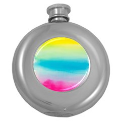 Watercolour Gradient Round Hip Flask (5 oz)