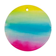 Watercolour Gradient Round Ornament (Two Sides)