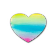 Watercolour Gradient Rubber Coaster (Heart)