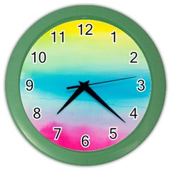 Watercolour Gradient Color Wall Clocks