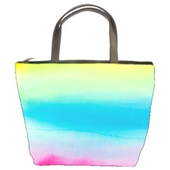 Watercolour Gradient Bucket Bags