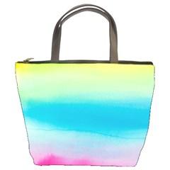 Watercolour Gradient Bucket Bags