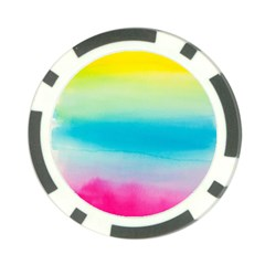 Watercolour Gradient Poker Chip Card Guards (10 pack)