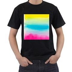Watercolour Gradient Men s T-Shirt (Black)