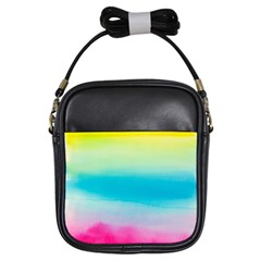 Watercolour Gradient Girls Sling Bags