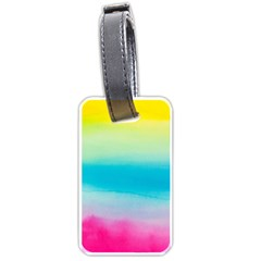 Watercolour Gradient Luggage Tags (One Side)