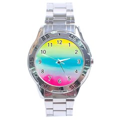 Watercolour Gradient Stainless Steel Analogue Watch